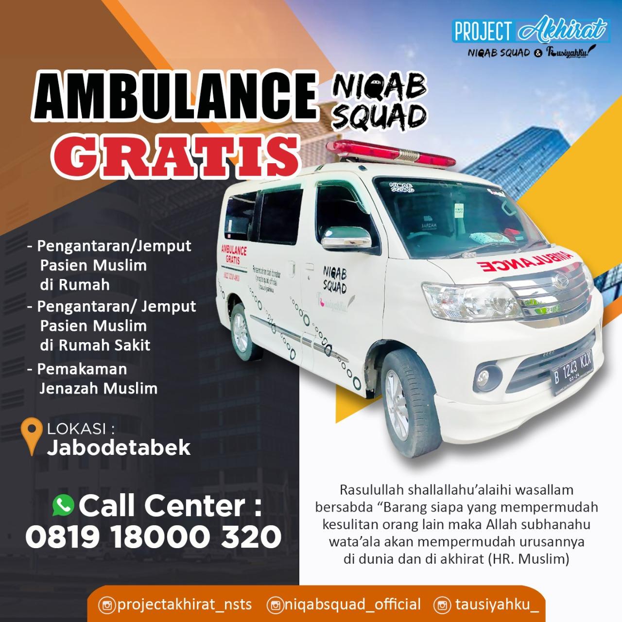 Sedekah Operasional Ambulance Gratis Untuk Yatim & Dhuafa