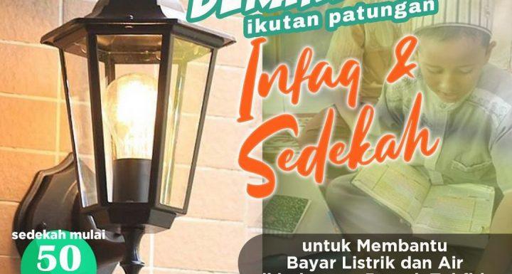 Sedekah Rutin Listrik, Air & Sarana Untuk Rumah Tahfidz Qur'an