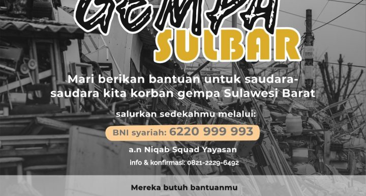 Sedekah Bencana Gempa Majene Sulawesi Barat (SULBAR)
